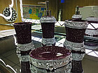 Фарфоровый набор для ванной (бордовый), фото 3