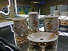 Фарфоровый набор для ванной (золотисто-бежевый), фото 3