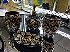 Фарфоровый набор для ванной (черный), фото 3