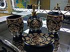 Фарфоровый набор для ванной (черный), фото 4