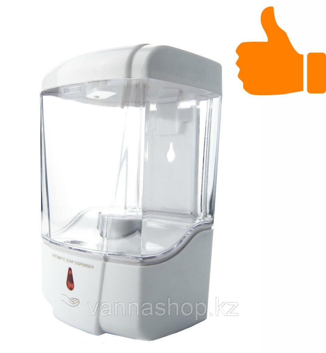 Дозатор (диспенсер) сенсорный для жидкого мыла прозрачный