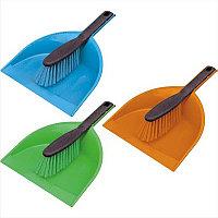 Комплект для уборки пола York (щетка+совок), пластик, цвет ассорти 062030