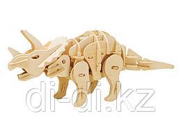 Деревянный 3D конструктор Robotime Динозавр Мини Трицератопс