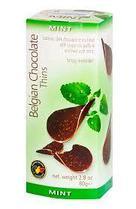 Шоколадные чипсы Belgian Chocolate Thins Мята 80 гр