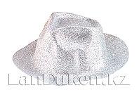 Шляпа карнавальная блестящая (серебристая)