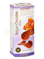 Шоколадные чипсы Belgian Chocolate Thins Карамель с морской солью 80 гр