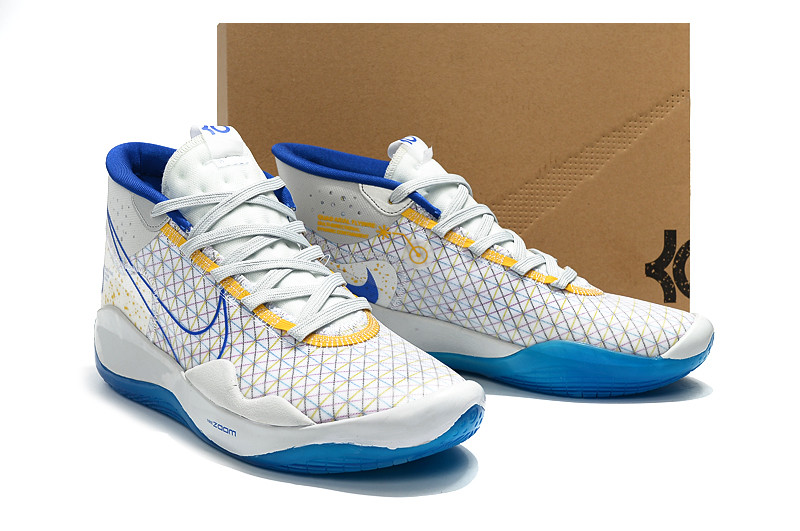 "Баскетбольные кроссовки  Nike KD 12 (XII) ""White-Blue"" from Kevin Durant"