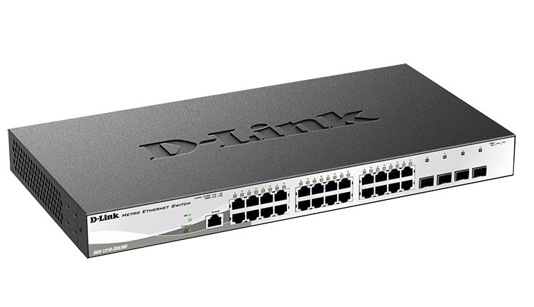 D-link DGS-1210-28X/ME Управляемый коммутатор 2 уровня с 24 портами 10/100/1000Base-T и 4 портами 10GBase-X