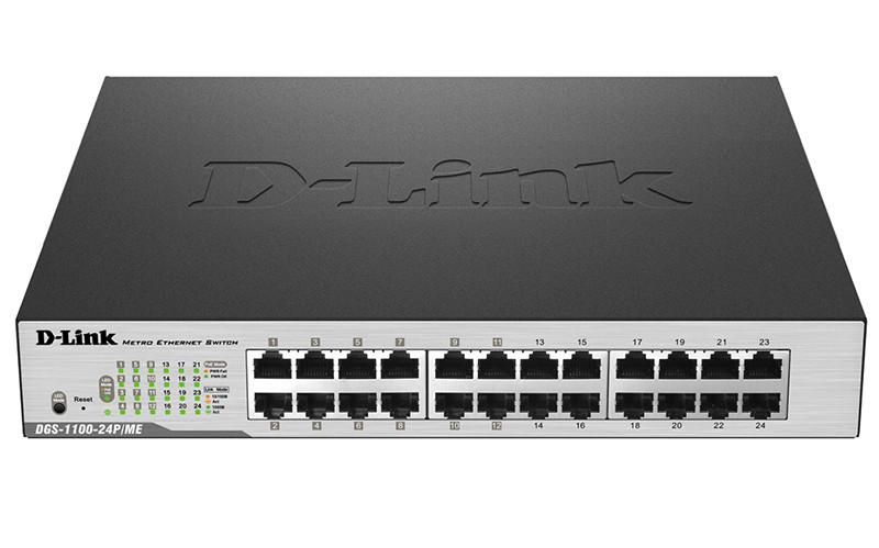 D-link DGS-1100-24P/ME/B Настраиваемый коммутатор 2 уровня с 24 портами 10/100/1000Base-T