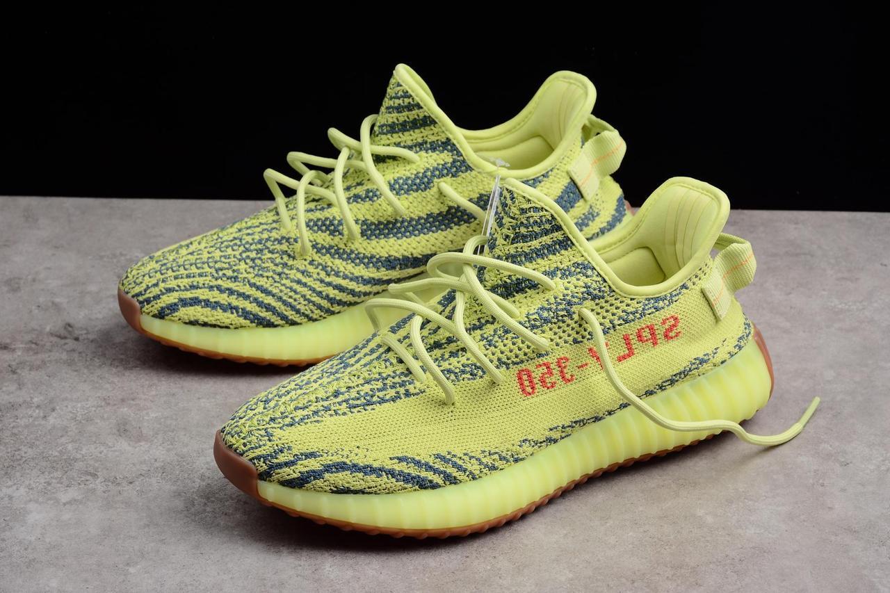"Adidas Yeezy Boost 350 V2 ""Semi Frozen Yellow"" (36-45) - фото 6"