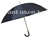 Зонт-трость полуавтомат черный с прорезиненной ручкой S.Lantana