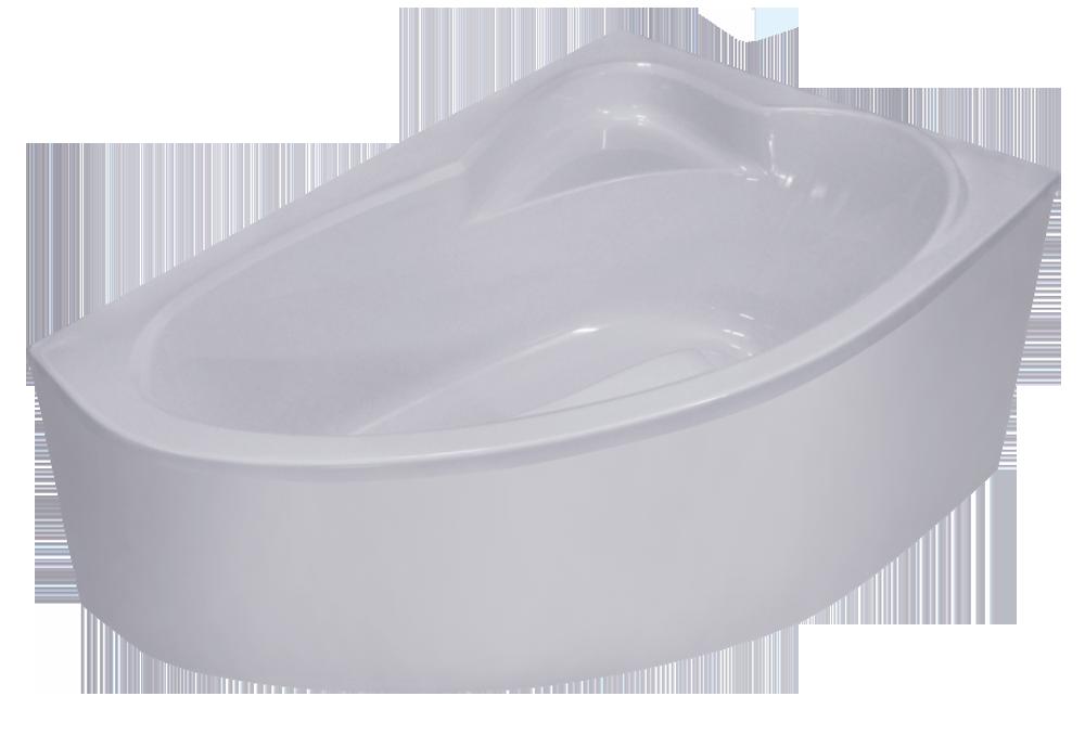 Ванна угловая ассиметричная NIKA 160*105 правая/левая