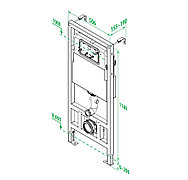Инсталяция рамная для подвесного унитаза Iddis NEOFIX