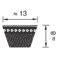 AX37 1/2 (980)  ремень Optibelt Super TX