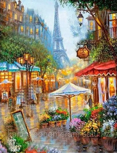 """Картина по номерам """"Магазинчики Парижа"""""""