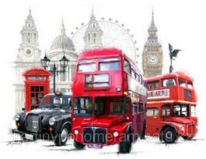 """Картина по номерам """"Символы Лондона 2"""""""
