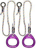 Кольца гимнастические треугольные 02 В фиолетовый