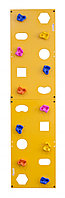 Скалодром пристенный 500*2000 стандарт ЭЛЬБРУС (10 зацепов) желтый с отверстиями