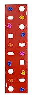 Скалодром пристенный 500*2000 стандарт ЭЛЬБРУС (10 зацепов) красный с отверстиями