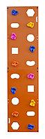 Скалодром пристенный 500*2000 стандарт ЭЛЬБРУС (10 зацепов) оранжевый с отверстиями