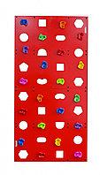Скалодром пристенный 1000*2000 стандарт ЭЛЬБРУС (20 зацепов) красный с отверстиями