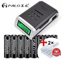 Зарядное устройство PALO PL-NC05 LCD + комплект аккумуляторов 8xAAA Ni-MH