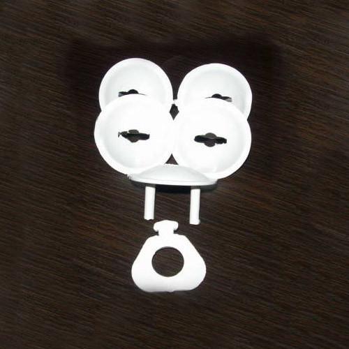 Заглушка круглая в розетку  с ключом, 5шт.