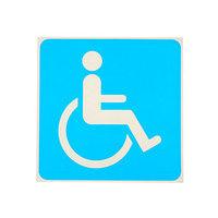 Наклейка знак 'Инвалид', 1818 см, цвет синий (комплект из 20 шт.)