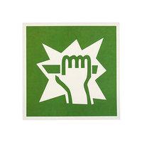 Наклейка 'Для доступа вскрыть здесь', 1818 см, цвет зелёный (комплект из 20 шт.)