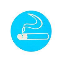 Наклейка указатель 'Зона для курения', 1818 см, цвет синий (комплект из 20 шт.)