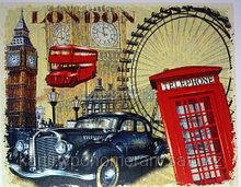 """Картина по номерам роспись по дереву """"Символы Лондона"""""""
