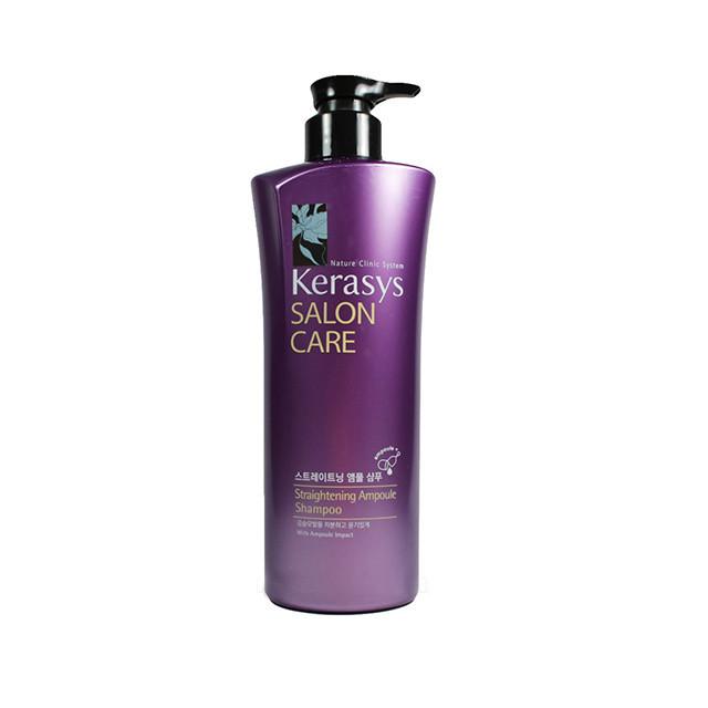Kerasys Salon Care Straightening Ampoule Shampoo Шампунь  для волос Выпрямляющий 600 мл