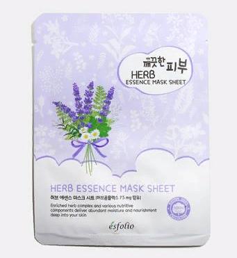 Тканевая маска для лица  с экстрактом лаванды Esfolio Essence Mask Sheet 25ml. (Herb)