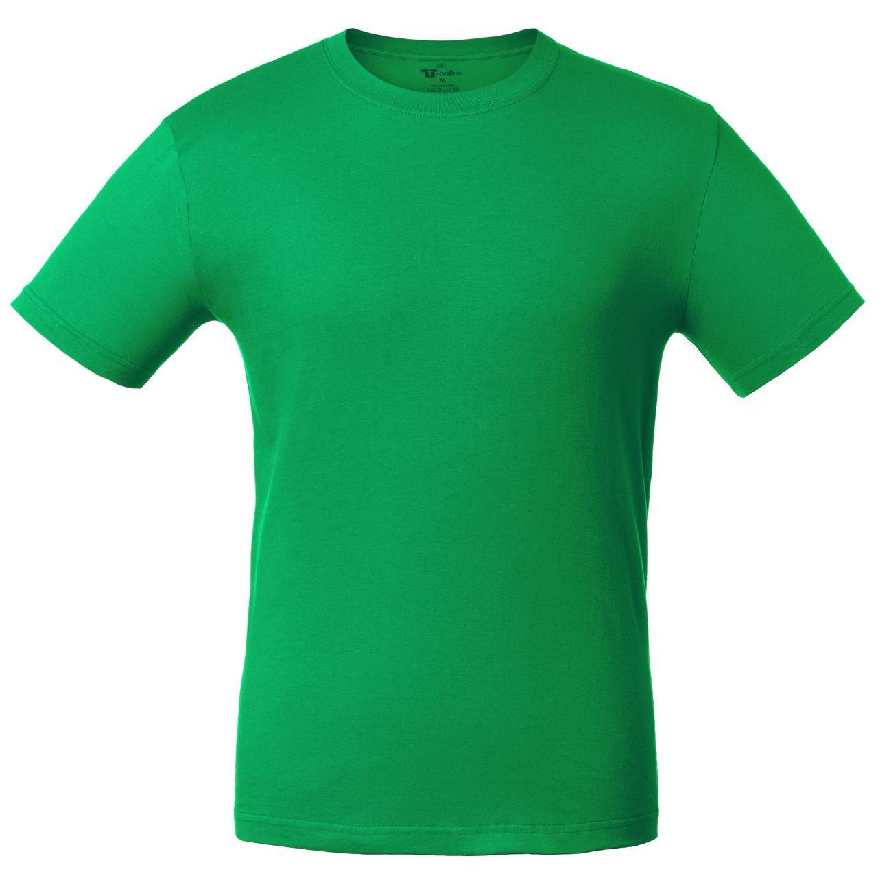 Футболки зеленого цвета под нанесение логотипа