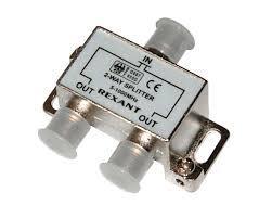 Делитель  ТВ х 2 под F разъем 5-1000 МГц REXANT