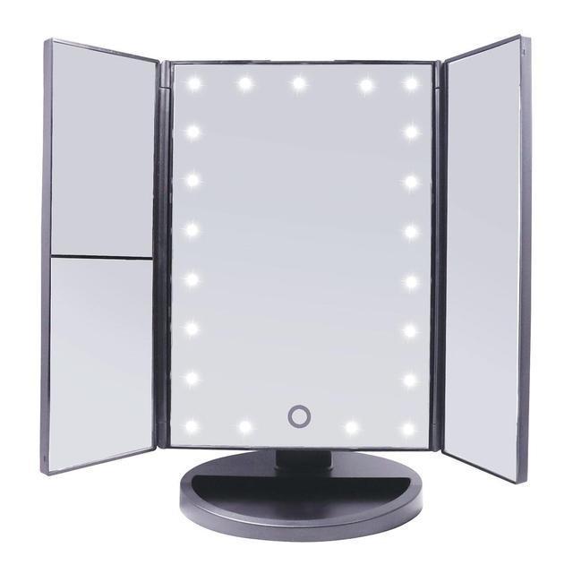 Зеркало косметическое с увеличением и подсветкой трехстворчатое Superstar Magnifying Mirror