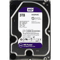 Жесткий диск для видеонаблюдения HDD 3Tb Western Digital Purple SATA 6Gb/s 64Mb