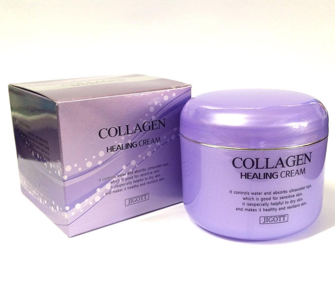 Питательный крем для лица Collagen Healing Cream 100ml.(Jigott)
