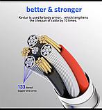 Магнитный кабель для зарядки + 3 насатки вращение 360градусов, фото 3