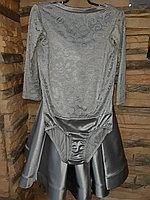 Комплект боди гипюр+юбка, рукав 3/4 (38 размер)