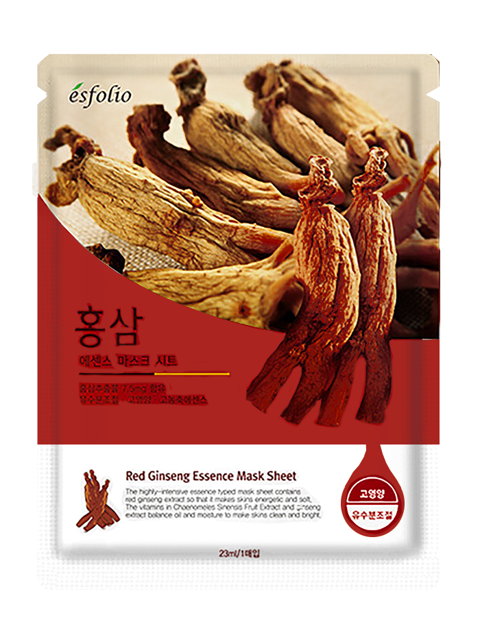 Тканевая маска Esfolio Essence Mask Sheet 23ml. Red Ginseng