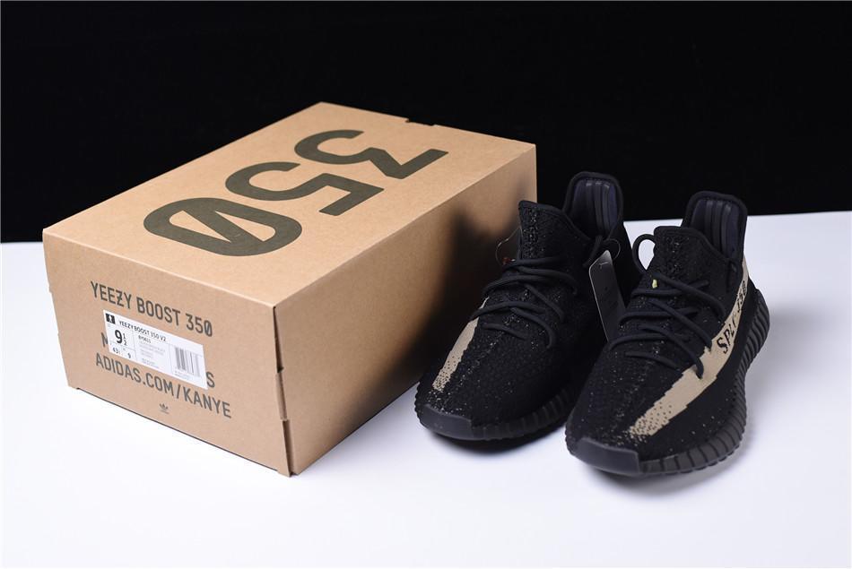 "Adidas Yeezy Boost 350 V2 ""Black/Olive Green"" (36-45) - фото 7"