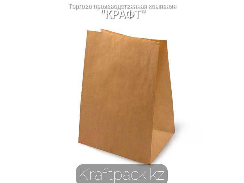 Пакет крафт 70гр, с прямоугольным дном 220*120*290 мм (500шт/уп)