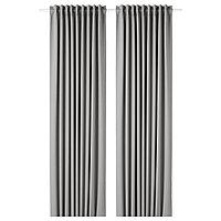 шторы блокирующие свет МАЙГУЛЛ серебристый  290x300 см ИКЕА. IKEA, фото 1