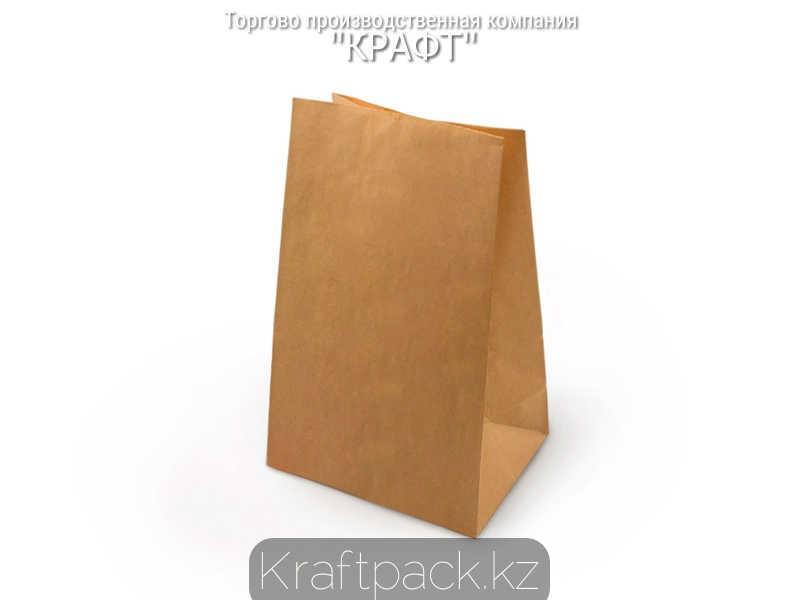 Пакет крафт 70гр, с прямоугольным дном 180*120*290 мм (600шт/уп)
