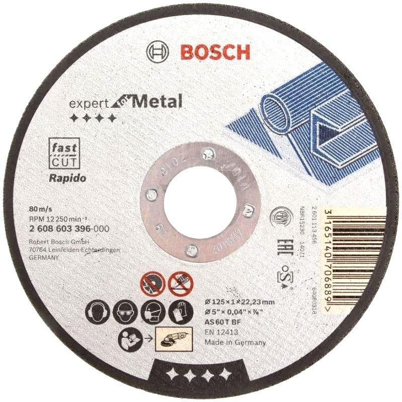 Круг отрезной по металлу 125х1,0 прямой BOSCH
