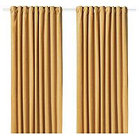 шторы затемняющие САНЕЛА  золотисто-коричневый  290x300 см ИКЕА IKEA, фото 1