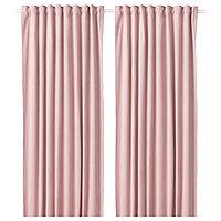 шторы затемняющие САНЕЛА светло-розовый 290x300 см ИКЕА IKEA, фото 1