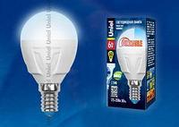 Светодиодная лампа диммируемая LED-G45-6W/WW/E14/FR/DIM PLP01WH картон