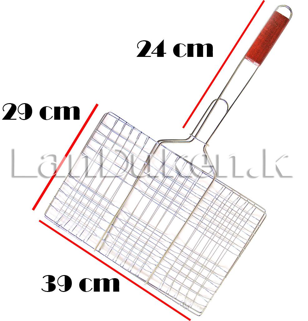 Решетка для гриля и барбекю с деревянной ручкой 29х39 см